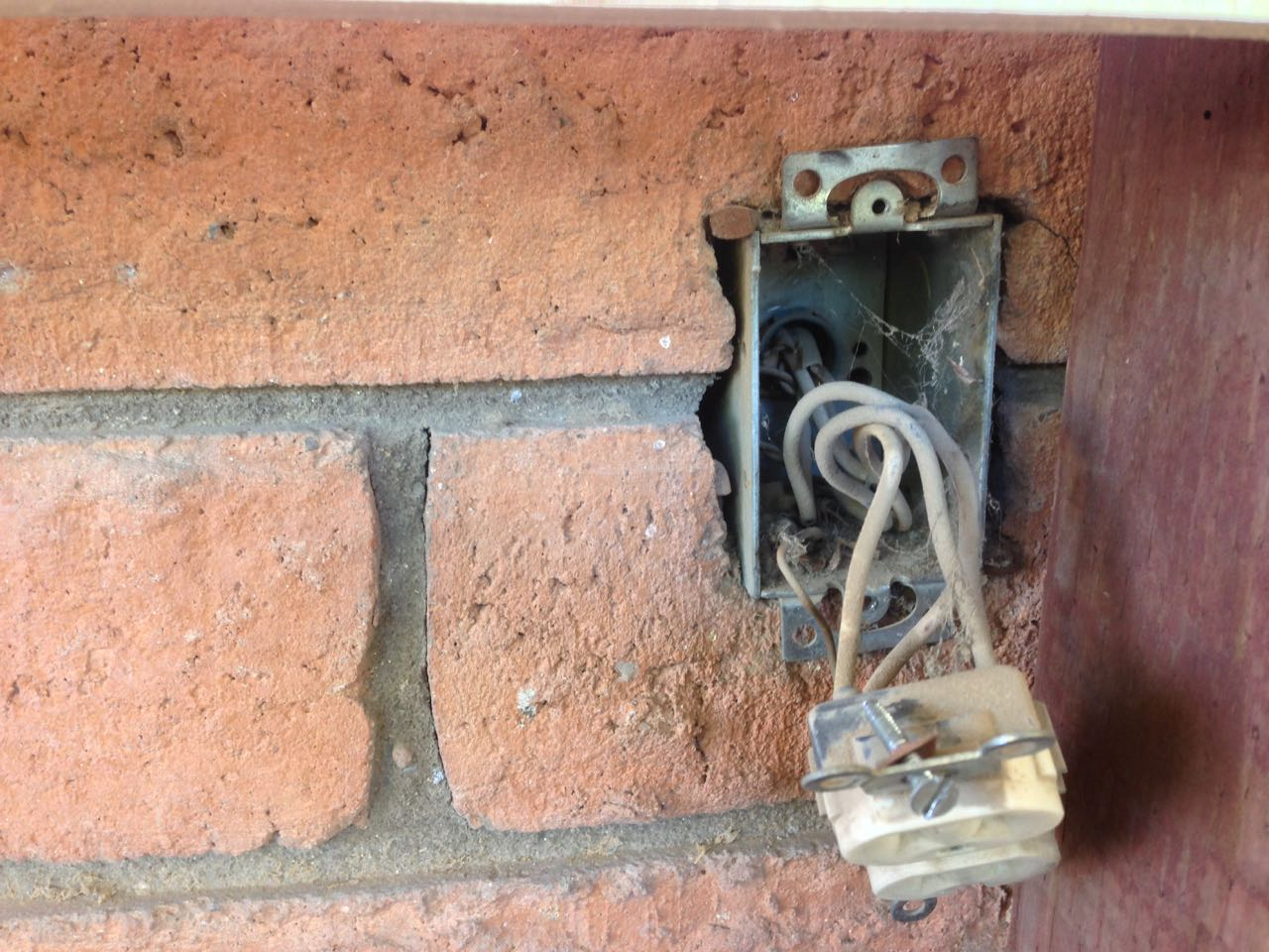 How To Extend An Exterior Electrical Outlet Granworks Domestic Wiring Is Basically A I Discovered That The Original Was 12 Gauge Which Surprised Me Because Nearly All Of Old In Our House Date Has Invariably