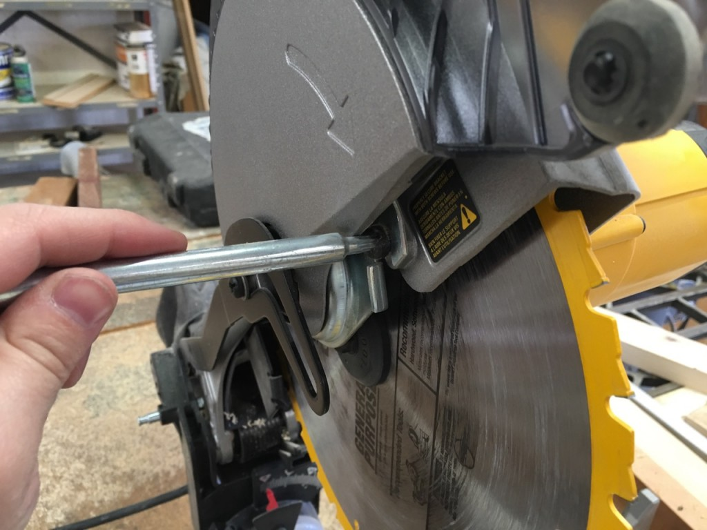 Lower guard screw