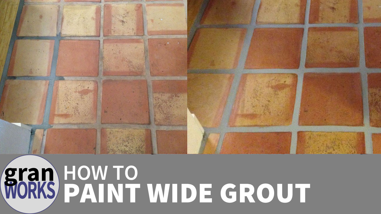 How To Paint Wide Grout