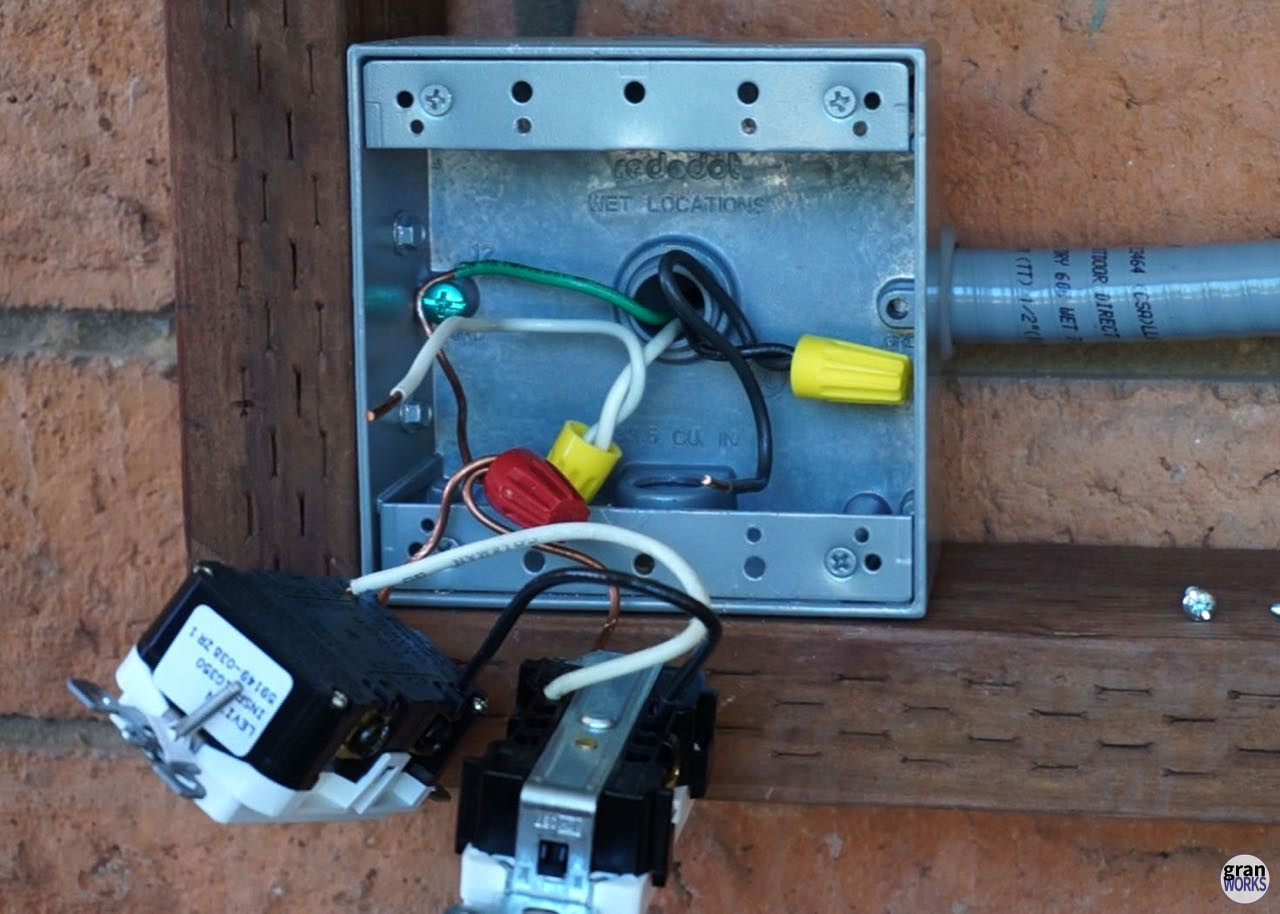 Extend An Electrical Outlet Followup And Fixes Granworks Wiring New Extended Wires In The Junction Box