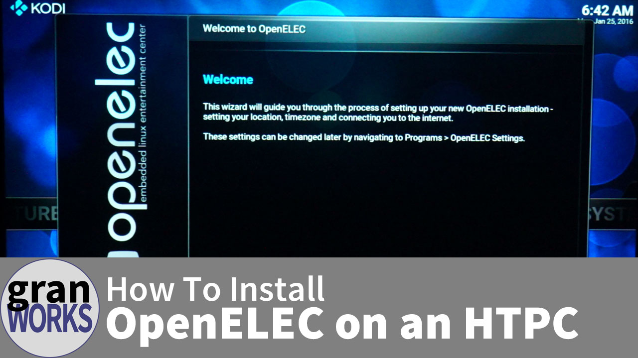 How to Install OpenELEC on an HTPC
