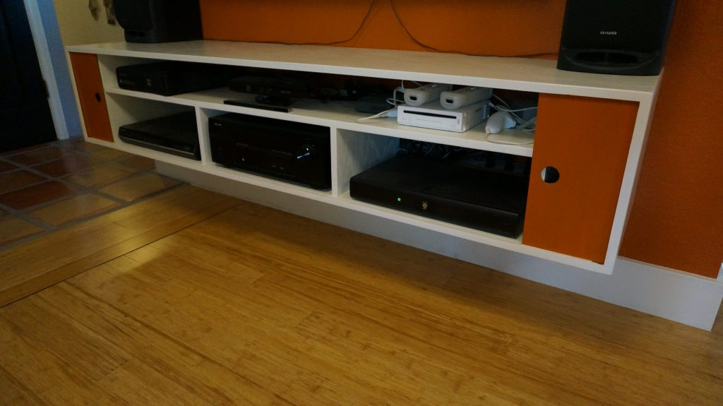 I Built A Custom Floating Media Console To Hold All Of The Av Equipment In Our Family Room